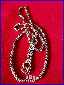 Antique /vintage Victorian Style 9ct Gold Belcher Quality Necklace 46cm Long