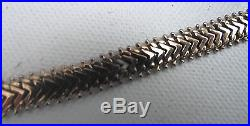 Art Deco solid Hallmarked 9ct GOLD Necklace Collar Choker Chain weight 25grams