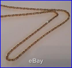 BYZANTINE 3mm 9ct GOLD NECKLACE chain 21.75 20.3g safety catch snap slide clasp