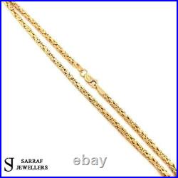 BYZANTINE KING Chain 375 9ct Yellow GOLD Men's Ladies SQUARE NECKLACE 18 2MM