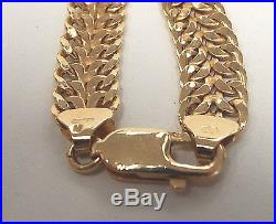 Beautiful. 375 9CT GOLD Double Curb Chain Necklace, BOXED 13.04g V29 B12