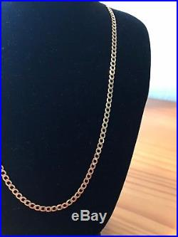 Beautiful 9ct gold HEAVY curb chain/necklace womens mens unisex 18inch FREE P&P