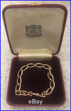Beautiful Antique 9ct Gold Albert Chain Bracelet 8 17g Hallmarked On All Links