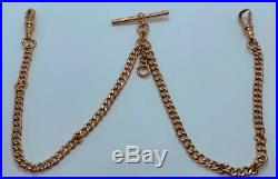 Beautiful Antique 9ct Gold Double Albert Chain