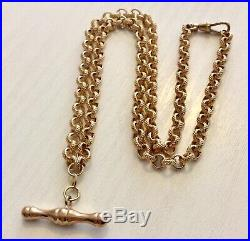 Beautiful Fancy 9CT Gold T Bar Necklace Chain 18 inch 9 Carat Gold Necklace
