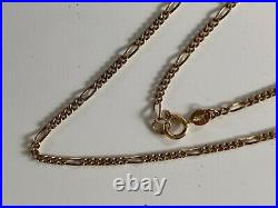 Beautiful Fancy Link 18.5 Inches Long Vintage 9ct Gold Chain Necklace 4 Grammes