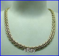 Beautiful Heavy 9ct Gold Fancy Link Designer Chain By Uno A Erre