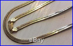 Beautiful Ladies Quality Heavy Vintage 9ct Gold Smooth Snake Design Necklace 9ct
