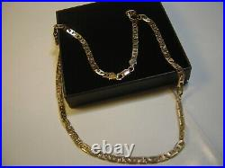 Beautiful Solid 9ct Gold 18 Vintage Rare Mariner Necklace Quality-heavy/strong