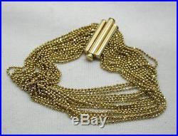 Beautiful Stylish 9ct Gold Multi Strand Bracelet