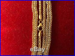 Beautifull Large 9ct gold Articulated Clown Rag Doll Pendant On Chain 10g