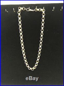 Belchor chain 9ct gold patterned and plain 147.6 grams 26.25 inch full hallmark