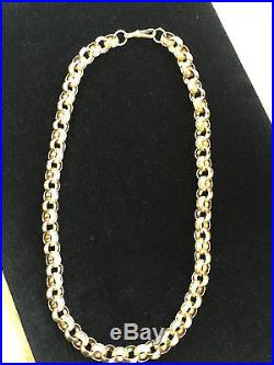 Belchor chain 9ct gold patterned and plain 167 grams 26 inch full hallmark