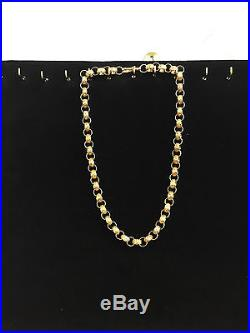 Belchor chain 9ct gold patterned and plain 171.3 grams 26 inch full hallmark