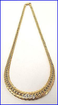 Boxed. 375 9CT GOLD 18 Italian IBB LONDON Curb Chain Necklace, 10.58g V27 C59