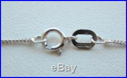 Brand New 1/3ct Diamond Solitaire 9ct White Gold Pendant & Chain Freepost