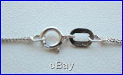 Brand New 1/4CT Diamond Solitaire 9ct White Gold Pendant & Chain £190 Freepost
