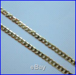 Brand New 9ct Gold Curb Chain Necklace 20 inch 2.6 grams £120 Freepost