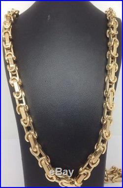Brand new HEAVY 9ct Gold Fancy Belcher Chain- 30inch 40.6g Uk Hallmark RRP £1895