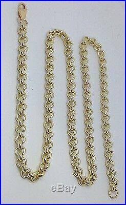 Brand new HEAVY Solid 9ct Gold Belcher Chain- 20inch 42g Uk Hallmark RRP £1890