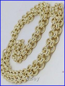 Brand new HEAVY Solid 9ct Gold Belcher Chain- 22inch 46g Uk Hallmark RRP £2070