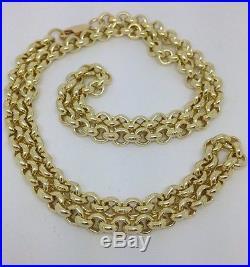 Brand new HEAVY Solid 9ct Gold Belcher Chain- 24inch 49g Uk Hallmark RRP £2205