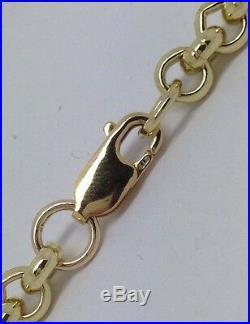 Brand new HEAVY Solid 9ct Gold Belcher Chain- 28inch 57g Uk Hallmark RRP £2565