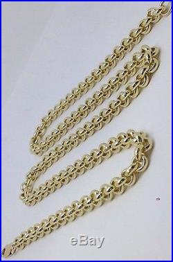 Brand new HEAVY Solid 9ct Gold Belcher Chain- 30inch 61g Uk Hallmark RRP £2745
