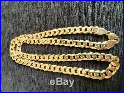 Brand new solid gold chain 28 inch 9ct Gold Curb Chain 109g