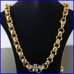 British Hallmarked 9 ct Gold Heavy Belcher Chain 29.5 110.4 G RRP £4200 BDB6