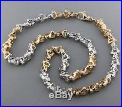 British Hallmarked 9 ct Gold Heavy Bolt Link Chain 21.5 INCH RRP £3157 BYY21