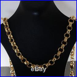 British Hallmarked 9 ct Gold Ornate Belcher Chain 30 64.5 G RRP £2590 BC17
