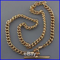 British Hallmarked 9 ct Gold Solid Italian Albert Chain 18 39 G RRP £1490 BAF1