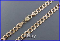 British Hallmarked 9 ct Gold Solid Italian Curb Chain 20 44.9 G RRP £1720 BAC11
