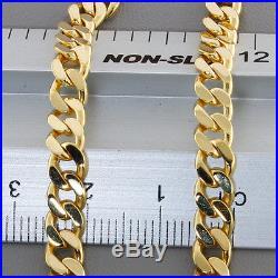 British Hallmarked 9 ct Gold Solid Tight Link Curb Chain 21 RRP £1090 BBW6