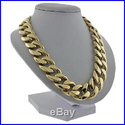 British Hallmarked 9ct Gold Extra Heavy Curb Chain 23 326 G RRP £12500 GH6
