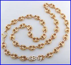 British Hallmarked 9ct Gold Heavy Gucci Link Chain 24 RRP £1385 ER1
