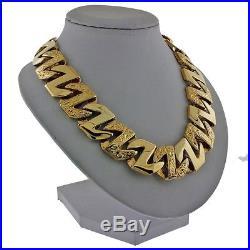 British Hallmarked 9ct Gold Heavy Mariner Curb Chain 24 207 G RRP £7875 HS41