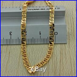 British Hallmarked 9ct Gold Solid Anchor Link Curb Chain 22 RRP £400 GW13