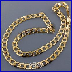 British Hallmarked 9ct Gold Solid Curb Link Chain 20 RRP £1200 BAV11