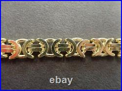 Byzantine Chain 9ct Solid Gold 158 grams 24 Heavy