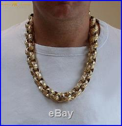 CHUNKY MEN'S 26 INCH Belcher Chain in Jewellers Bronze 340g Dipped in 9ct Gold