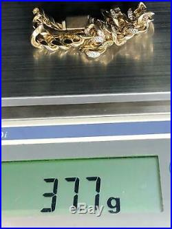 CUBAN CURB 375 9CT Yellow Gold Genuine Style Bracelet 10mm 8 37.7gr Brand NEW