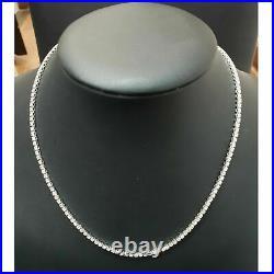 Certified! 4CT Round Diamond Tennis Necklace In Hallmarked White Gold