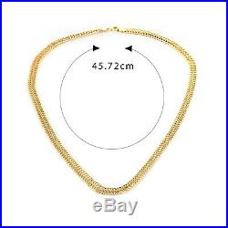 Clearance 9ct Gold Figure 8 Chain Necklace made in italy UK Hallmark RRP £650