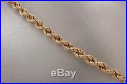 Clearance Bargain 9ct Gold Necklace Rope Twist Chain 22.5 £123. NICE1
