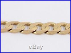 Curb Chain Necklace 9ct Gold Gents Ladies Heavy Chunky Solid 375 I35