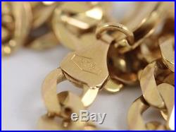 Curb Chain Necklace 9ct Gold Ladies Gents Solid 375 I35
