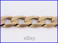 Curb Chain Necklace 9ct Gold Ladies Gents Thick Heavy Solid 375 I31