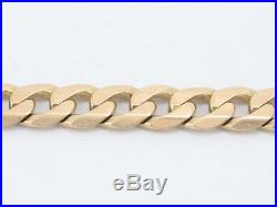 Curb Chain Necklace Solid 9ct Gold Ladies Men's Italian 375 Heavy C27
